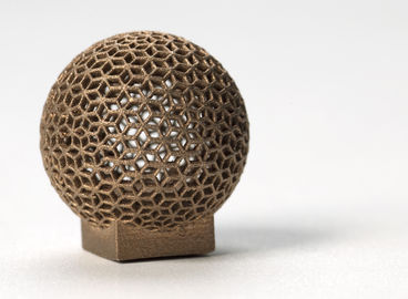 China Aluminum DMLS 3D printing for Sphere Shape , Golden electroplating supplier